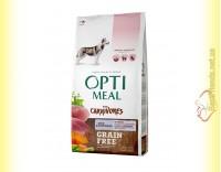 Купить Optimeal Grain Free беззерновой корм для собак - Утка и овощи