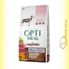 Optimeal Grain Free беззерновой корм для собак - Утка и овощи