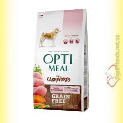 Optimeal Grain Free беззерновой корм для собак - Индейка и овощи