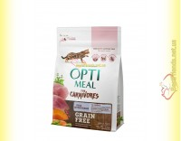 Купить Optimeal Grain Free беззерновой корм для кошек - Утка и овощи 300гр