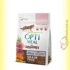 Optimeal Grain Free беззерновой корм для кошек - Утка и овощи 300гр