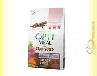 Купить Optimeal Grain Free беззерновой корм для кошек - Утка и овощи 4кг