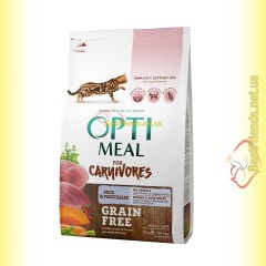 Optimeal Grain Free беззерновой корм для кошек - Утка и овощи 4кг