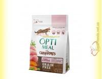 Купить Optimeal Grain Free беззерновой корм для кошек - Индейка и овощи 300гр
