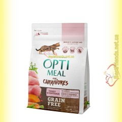 Optimeal Grain Free беззерновой корм для кошек - Индейка и овощи 300гр