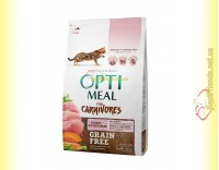 Купить Optimeal Grain Free беззерновой корм для кошек - Индейка и овощи 4кг