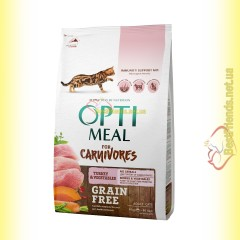 Optimeal Grain Free беззерновой корм для кошек - Индейка и овощи 4кг