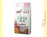 Купить Optimeal Grain Free беззерновой корм для собак - Утка и овощи 1,5кг