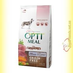 Optimeal Grain Free беззерновой корм для собак - Утка и овощи 1,5кг