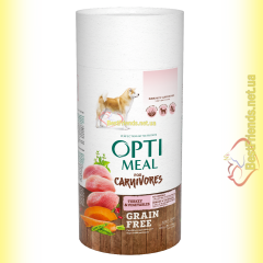Optimeal Grain Free беззерновой корм для собак - Индейка и овощи 650гр
