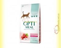 Купить Optimeal Hidh in Veal для взрослых кошек - Телятина 10кг