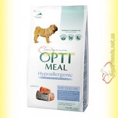 Optimeal Hypoallergenic для собак средних пород - Лосось 1,5кг