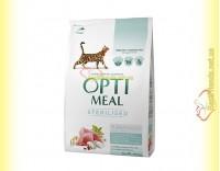Купить Optimeal Sterilised для стерилизованных кошек - Индейка 4кг
