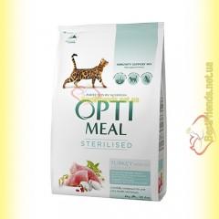 Optimeal Sterilised для стерилизованных кошек - Индейка 4кг