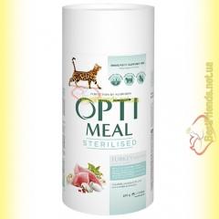 Optimeal Sterilised для стерилизованных кошек - Индейка 650гр