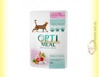 Купить Optimeal wint Lamb&Vegetables для взрослых кошек - с Ягненком и овощами 85гр