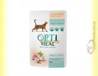 Купить Optimeal with Rabbit для взрослых кошек - с Кроликом в белом соусе 85гр