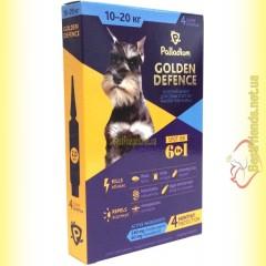 Palladium GOLDEN DEFENCE капли от паразитов для собак весом от 10 до 20кг