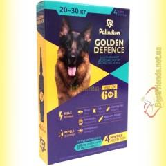 Palladium GOLDEN DEFENCE капли от паразитов для собак весом от 20 до 30кг