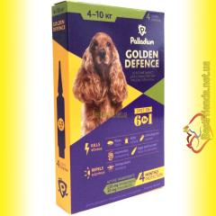 Palladium GOLDEN DEFENCE капли от паразитов для собак весом от 4 до 10кг