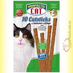 Perfecto Cat палочки с кроликом и птицей для котов 10шт