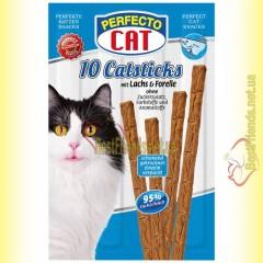Perfecto Cat палочки с лососем и форелью для котов 10шт