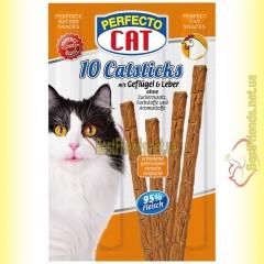 Perfecto Cat палочки с птицей и печенью для котов 10шт