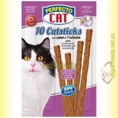 Perfecto Cat палочки с ягненком и индейкой для котов 10шт