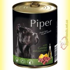 Piper консерва для собак с дичью и тыквой 800гр