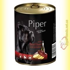 Piper консерва для собак с говяжьей печенью и картофелем 400гр