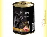 Купить Piper консерва для собак с куриным сердцем и коричневым рисом 400гр
