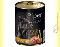 Купить Piper консерва для собак с куриным сердцем и коричневым рисом 800гр