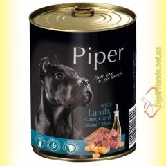 Piper консерва для собак с ягненком, морковью и коричневым рисом 800гр