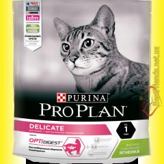 Purina Pro Plan Delicate для взрослых кошек с чувствительным пищеварением с Ягненком