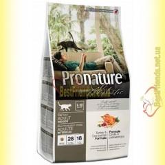 Pronature Holistic с Индейкой и клюквой сухой корм для котов 2,72кг