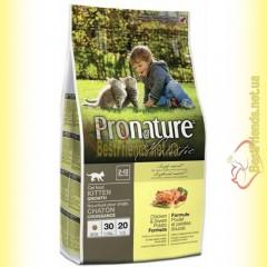 Pronature Holistic с курицей и бататом сухой корм для котят 2,72кг