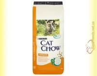 Купить Purina Cat Chow Adult для взрослых кошек с курицей и индейкой 15кг