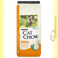 Purina Cat Chow Adult для взрослых кошек с курицей и индейкой 15кг