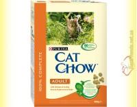 Купить Purina Cat Chow Adult для взрослых кошек с курицей и индейкой 400гр