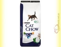 Купить Purina Cat Chow Feline 3in1 для взрослых кошек с индейкой 15кг