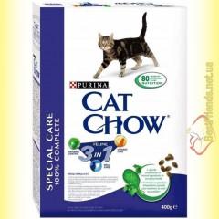 Purina Cat Chow Feline 3in1 для взрослых кошек с индейкой 400гр