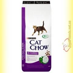 Purina Cat Chow Hairball Control для выведения шерсти из желудка 15кг