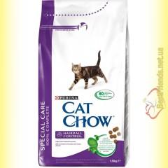Purina Cat Chow Hairball Control для выведения шерсти из желудка 1,5кг