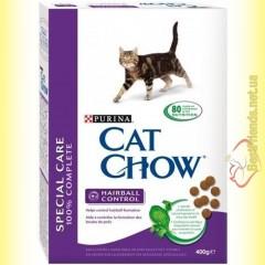 Purina Cat Chow Hairball Control для выведения шерсти из желудка 400гр