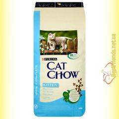 Purina Cat Chow Kitten для котят с курицей 15кг