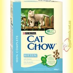 Purina Cat Chow Kitten для котят с курицей 400гр