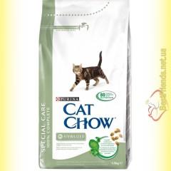 Purina Cat Chow Sterilized для стерилизованных кошек 1,5кг