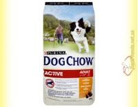 Купить Purina Dog Chow Active для взрослых активных собак с курицей 14кг