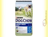 Купить Purina Dog Chow Large Breed для взрослых собак крупных пород с индейкой 14кг