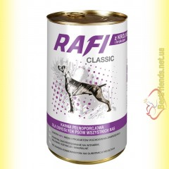 Rafi Classic консерва для собак с кроликом и брокколи 1250гр
